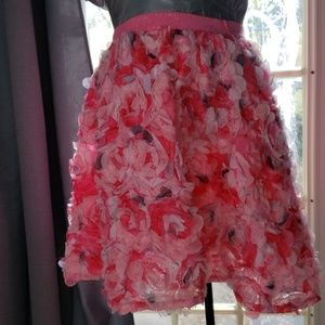 Childrens Place 3D floral skirt